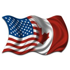 Image result for canadian and american flags together