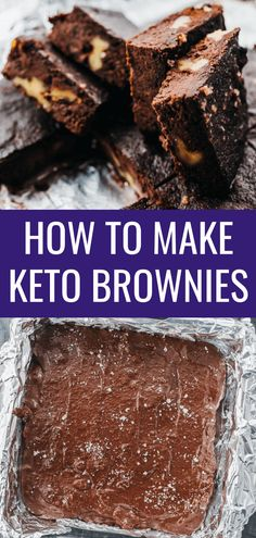 These are the best keto brownies with walnuts flourless moist and somewhere between fudgy and chewy Theyre simple quick and easy to make using almond flour unsweetened c. Almond Flour Brownies, Chocolate Raspberry Brownies, Low Carb Dessert, Paleo Dessert, Keto Desserts, Keto Snacks, Quick Keto Dessert, Dessert Simple, Savory Snacks