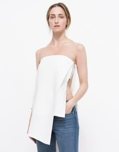 www.imdb.me/jessicasirls  Fashion style white top strapless  The Runaway Bustier