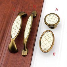 Laiton massif Treillis Vintage Style Rétro Cabinet Armoire Tiroir accessoires