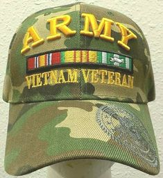 "Velcro has ""VETERAN"" on it. - Very nice hat. Do not forget to provide apt, unit, floor etc number. Veterans Flag, Vietnam Veterans, Vietnam War, Purple Heart Medal, Camouflage Colors, Army Camo, Cool Hats, Us Army"