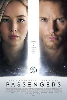 Passengers (DEC 21) PG 13 - A spacecraft traveling to a distant colony planet and transporting thousands of people has a malfunction in its sleep chambers. As a result, two passengers are awakened 90 years early.  -   Director: Morten Tyldum  -   Writer: Jon Spaihts  -   Stars: Jennifer Lawrence, Chris Pratt, Michael Sheen   -  ADVENTURE / DRAMA / ROMANCE