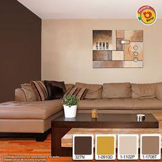 Colores cálidos llenen de confort tu sala!