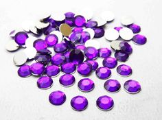200pcs 8mm Acrylic Crystal Round Faceted Flat Back Rhinestones Beads DIY  Purple  Unbranded Rhinestones 2f45eaf2d178