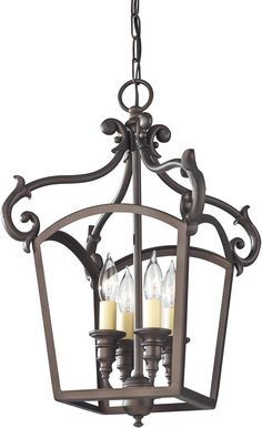 Luminary 4-Light Hall Chandelier Oil Rubbed Bronze