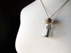 CUSTOM Skeleton Key Necklace, Vintage Skeleton Key in Jar on Etsy, $38.00