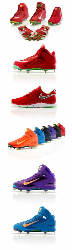 Nike Red Apple Bright Lights Big City Collection baseball cleats