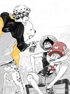 Bepo, Chopper, Law and Luffy