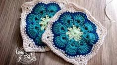 Image result for flower granny square free pattern