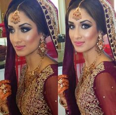 bride's makeup by Lubna Rafiq Academy
