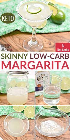 A quick and easy keto skinny margarita recipe with just carb each. Mixed Drinks Alcohol, Drinks Alcohol Recipes, Alcoholic Beverages, Drink Recipes, Alcoholic Shots, Cocktail Recipes, Skinny Girl Margarita, Skinny Margarita Recipes, Low Carb Margarita Recipe