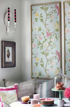 Home Decor Diy Make wallpaper panels from wallpaper mdf trim and paint!Home Decor Diy Make wallpaper panels from wallpaper mdf trim and paint! Framed Wallpaper, Wallpaper Panels, Wallpaper Paste, Flock Wallpaper, Wallpaper Ideas, Chinoiserie Wallpaper, Unique Wallpaper, Interior Wallpaper, Wallpaper Headboard