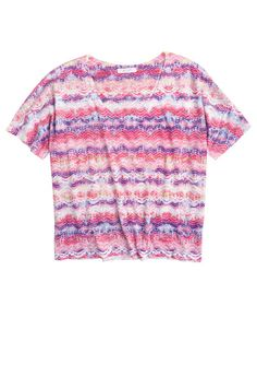 dELiAs > Aria Squiggle Tee > tops > knit tops