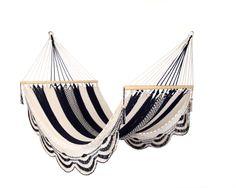 Black & White Nicaraguan Handwoven Hammock