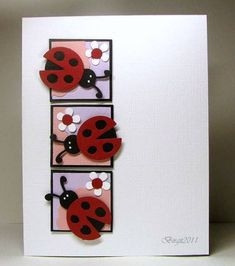 Lady Bugs - Adorable!! She used a die but would be easy to reproduce using punches.