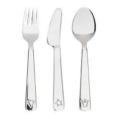 FABLER 3-piece flatware set, stainless steel