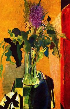 The Glass of Lilac - Georges Braque, 1946