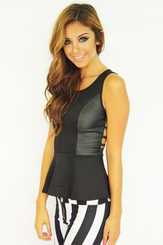 Black out peplum top
