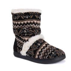 786a9de405433 Women s MUK LUKS Holly Knit Boot Slippers Knit Boots