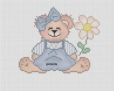 Cross Stitch Embroidery, Needlework, Teddy Bear, Nursery, Character, Art, Toddler Chart, Bears, Girls