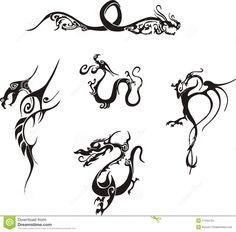 tatuajes en papel dragones simples - Buscar con Google