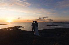 Gorgeous archipelago wedding. Stunning September sky.  #septemberhimmel