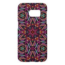 Colorful Retro Turkish Mosaic Kaleidoscope Pattern Samsung Galaxy S7 Case