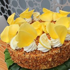 DID IT! Lemon Praline Torte from Extraordinary Desserts.  It's what's for Easter Dinner!