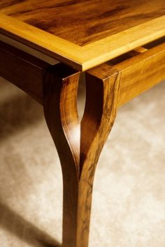 Fine Woodworking Table Detail.