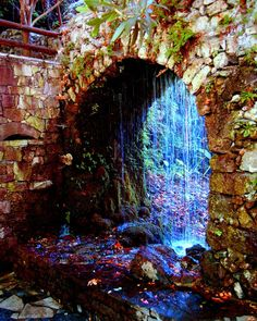 Waterfalls in Crete, Greece.