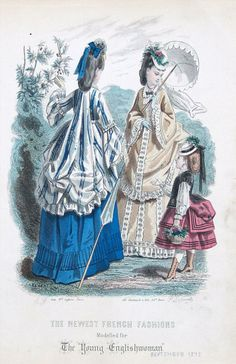 September 1872 - Fashion Plate. The Young Englishwoman.