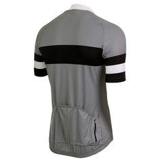 Genova II Grey Jersey   DannyShane   Designer Cycling Apparel