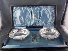 Sterling silver pierced/scrolled Bon Bon dishes Levi & Salaman Birmingham 1912 c Levis, Birmingham, Dishes, Sterling Silver, Amp, Stuff To Buy, Women, Tablewares, Dish