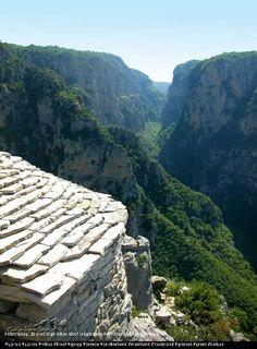 Vikuskloof Epirus op het vaste land