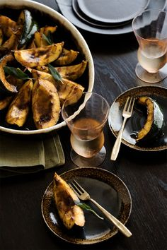 Molasses and balsamic vinegar -Glazed Acorn Squash | MattBites.com