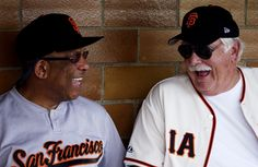 Orlando Cepeda and Gaylord Perry at the Hall of Fame Classic