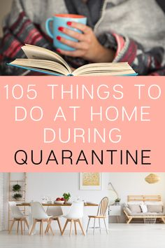 105 Things To Do At Home (that aren't Netflix) - - Don't let being stuck at home make you stir-crazy and anxious. Be productive and make the time go by faster with these 105 non-Netflix things to do at home! Productive Things To Do, Things To Do At Home, Things To Do On A Rainy Day, Fun Stuff To Do At Home, Things To Do Inside, Diy Things, Free Things To Do, Binder Clips, Vintage Ephemera