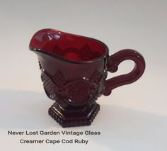 Ruby Red Creamer Avon 1876 Cape Cod by NeverLostGarden on Etsy