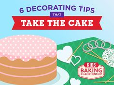 6 Tips for Decorating a Cake — Kids Baking Championship : Here are six easy ways to decorate cakes like a champion. All you need is some common household items and your favorite powdery topping, like powdered sugar, cinnamon sugar or cocoa powder. Just put the tool on your cake, sift the powder over it, then remove the tool.