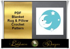 Looking for your next project? You're going to love Goodnite Moon Blanket, Pillow and Rug by designer DesignsEdelweis.