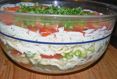 Italienischer Schichtsalat Italian layered salad Layered salad Mexican styleFruity – spicy layered salad from Salad Recipes Healthy Lunch, Salad Recipes For Dinner, Chicken Salad Recipes, Salmon Recipes, Lunch Recipes, Fall Recipes, Healthy Lunches, Potato Recipes, Meat Recipes
