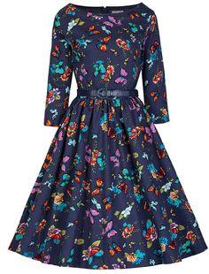 ce60202fbd2f Lindy Bop  Holly  Millésime 1950 s Bleu Papillon Audrey Hepburn Swing Style  Robe (52