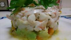 Facil y Sano : Ceviche de bacalao , gambas y vieiras