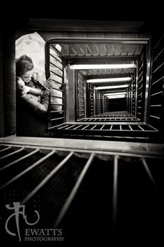 Here's a shot from a recent formal shoot at the SLC library :) Surprisingly, stairwells work out quite nicely! eWattsPhotography.com 2012