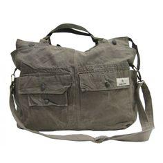 Kessu bag made from Swedish army uniform jacket