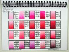 copic oz: Kathy Copic Marker Art, Copic Pens, Copic Art, Copic Sketch Markers, Copics, Copic Color Chart, Copic Colors, Color Charts, Copic Markers Tutorial