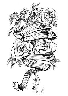 pen illustration melting tattoo