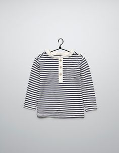two-tone striped t-shirt    $16.90