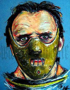 Print 8x10  Hannibal Lecter   Anthony Hopkins silence by chuckhodi, $8.00