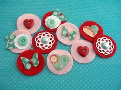 layered embellies - cute in a scrapbook